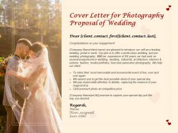 Cover Letter For Photography Proposal Of Wedding Ppt Powerpoint Presentation Portfolio