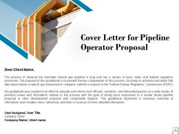 Cover Letter For Pipeline Operator Proposal Ppt Powerpoint Presentation Templates