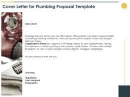 Cover Letter For Plumbing Proposal Template Ppt Powerpoint Slides Tips