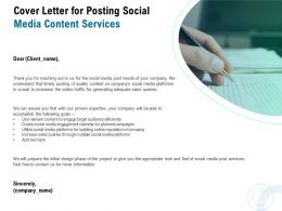 Cover Letter For Posting Social Media Content Services Ppt Powerpoint Presentation Portfolio