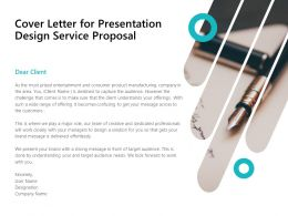 Cover Letter For Presentation Design Service Proposal Ppt Powerpoint