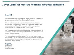 Cover Letter For Pressure Washing Proposal Template Ppt Powerpoint Icon Samples
