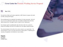 Cover Letter For Pressure Washing Service Proposal Ppt Powerpoint Presentation Gallery Slide Portrait