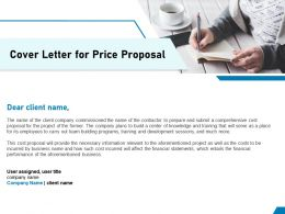 Cover Letter For Price Proposal Ppt Powerpoint Presentation File Smartart