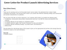Cover Letter For Product Launch Advertising Services Ppt Powerpoint Presentation Gallery Grid