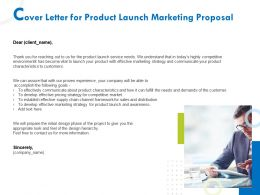 Cover Letter For Product Launch Marketing Proposal Ppt Ideas