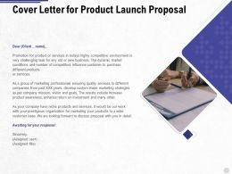 Cover Letter For Product Launch Proposal Ppt Powerpoint Presentation Visual Aids Example 2015