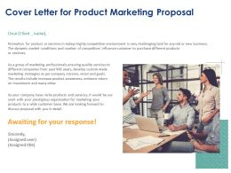 Cover Letter For Product Marketing Proposal Ppt Powerpoint Presentation Summary