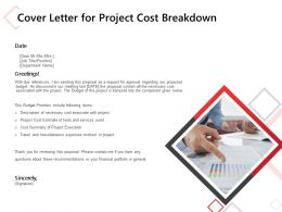 Cover Letter For Project Cost Breakdown Ppt Powerpoint Presentation Infographics Visuals