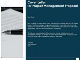 Cover Letter For Project Management Proposal Ppt Powerpoint Pictures
