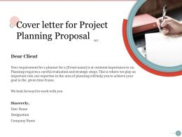 Cover Letter For Project Planning Proposal Ppt Powerpoint Presentation Guidelines