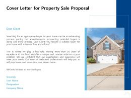 Cover Letter For Property Sale Proposal Ppt Powerpoint Presentation Inspiration