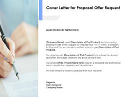 Cover Letter For Proposal Offer Request Ppt Powerpoint Presentation Slides