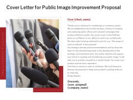 Cover Letter For Public Image Improvement Proposal Powerpoint Presentation File Styles