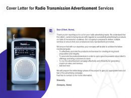 Cover Letter For Radio Transmission Advertisement Services Ppt Topics