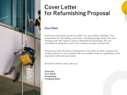 Cover Letter For Refurnishing Proposal Ppt Powerpoint Presentation