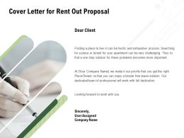 Cover Letter For Rent Out Proposal Ppt Powerpoint Presentation Model Ideas