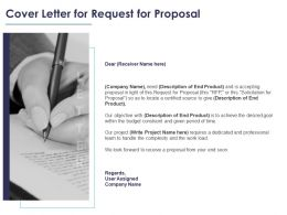 Cover Letter For Request For Proposal Ppt Icon Background Designs