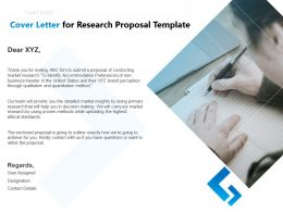 Cover Letter For Research Proposal Template Ppt Powerpoint Presentation Model Graphics