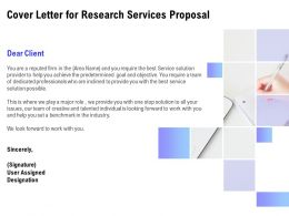 Cover Letter For Research Services Proposal Ppt Powerpoint Slides Outline