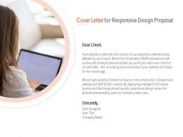 Cover Letter For Responsive Design Proposal Ppt Powerpoint Presentation Files