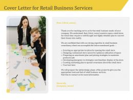 Cover Letter For Retail Business Services Marketing Ppt Model