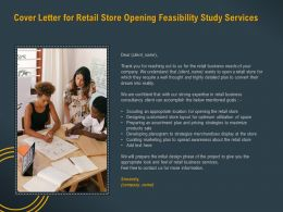 Cover Letter For Retail Store Opening Feasibility Study Services Ppt Powerpoint Pictures