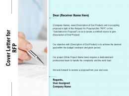Cover Letter For RFP Ppt Powerpoint Presentation Outline Microsoft