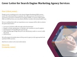 Cover Letter For Search Engine Marketing Agency Services Ppt Example File