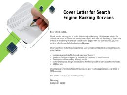Cover Letter For Search Engine Ranking Services Design Attractive Ppt Powerpoint Presentation Ideas