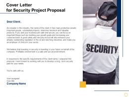 Cover Letter For Security Project Proposal Ppt Powerpoint Presentation Smartart