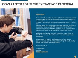 Cover Letter For Security Template Proposal Ppt Powerpoint Presentation Portfolio Example File