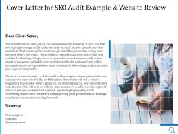 Cover Letter For SEO Audit Example And Website Review Ppt Powerpoint Summary