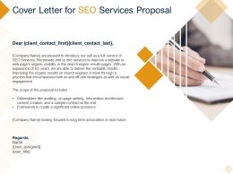 Cover Letter For SEO Services Proposal Ppt Powerpoint Presentation Inspiration Icon