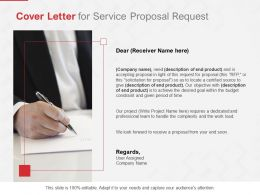 Cover Letter For Service Proposal Request Ppt Powerpoint Presentation File