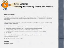 Cover Letter For Shooting Documentary Feature Film Services Researching Ppt Powerpoint Presentation Layout
