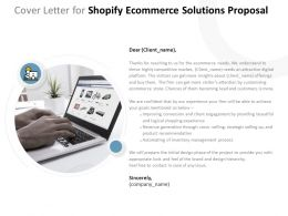 Cover Letter For Shopify Ecommerce Solutions Proposal Ppt Powerpoint Presentation Picture
