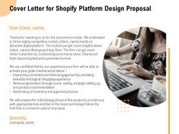 Cover Letter For Shopify Platform Design Proposal Ppt Powerpoint Presentation Infographic