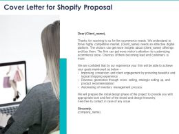Cover Letter For Shopify Proposal Ppt Powerpoint Presentation Templates