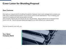 Cover Letter For Shuttling Proposal Ppt Powerpoint Presentation Portfolio Ideas