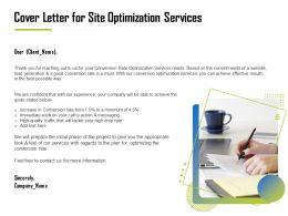 Cover Letter For Site Optimization Services Ppt File Format Ideas
