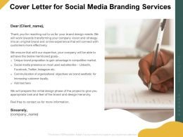Cover Letter For Social Media Branding Services Ppt Powerpoint Styles Skills