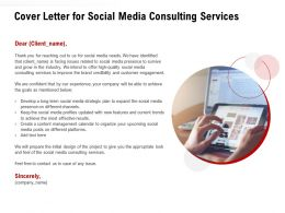 Cover Letter For Social Media Consulting Services Ppt Powerpoint Presentation Model