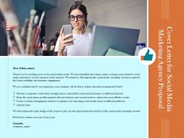 Cover Letter For Social Media Marketing Agency Proposal Ppt Powerpoint Presentation Layouts