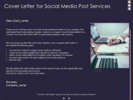 Cover Letter For Social Media Post Services Ppt Powerpoint Presentation Infographics