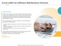 Cover Letter For Software Maintenance Services Goals Ppt Gallery