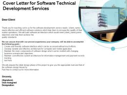 Cover Letter For Software Technical Development Services Ppt Infographics