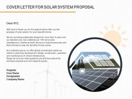 Cover Letter For Solar System Proposal Ppt Powerpoint Presentation Gallery Slide