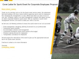 Cover Letter For Sports Event For Corporate Employees Proposal Ppt Slides Design