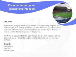 Cover Letter For Sports Sponsorship Proposal Ppt Powerpoint Presentation Styles